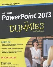PowerPoint 2013 For Dummies, Lowe, Doug, Good Book
