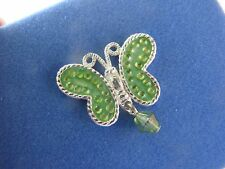 VINTAGE AVON AUGUST PERIDOT BIRTHSTONE BUTTERFLY TAC PIN