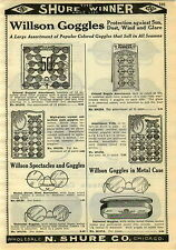 1929 PAPER AD Willson Goggles Store Display Cards Eye Glasses Spectacles