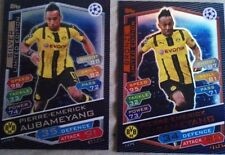 Topps Match Attax Champions League 2017 bronze silver Limited Edition Aubameyang