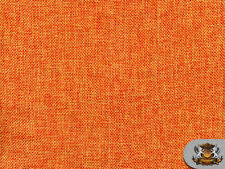 "Polyester Vintage Linen Look ORANGE  Fabric / 60"" W / Sold by the yard"