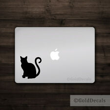 Cat - Vinyl Decal Mac Apple Logo Laptop Sticker Macbook Kitten Sitting Paw