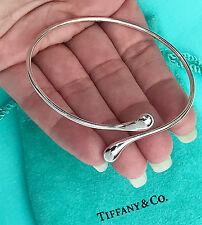 Tiffany & Co Elsa Peretti Sterling Silver Teardrop Bangle Bracelet RRP £545