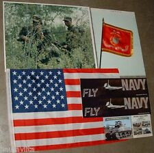 US Army Ranger RUC Course 1985 Photo US Flag Marine Flag Navy BumperStickers lot