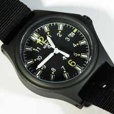 MWC G10 100m GTLS Hybrid Black Titanium Military Watch NEW