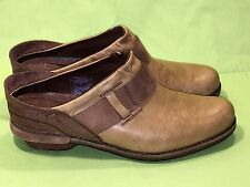 PATAGONIA Addie 6M 37 Acorn Brown Tan Nubuck Leather CLOGS Casual Slip-On Shoes
