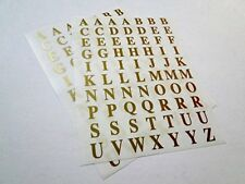 IVY Alphabet Gold Stickers Self Adhesive Letters A-Z - Bulk Pack 420 Labels!