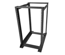 "19"" 20U 35.5"" D Heavy Duty 4 Post Open Frame Rack for Network or Server NEW"