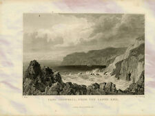 Cape Cornwall Lands End England Starling Allom 1832 Pho