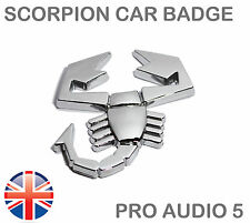 Scorpion Cromo Placa De Coche Placa-Cuerpo De Arranque Universal Abarth Fiat Ford Truck Van-UK
