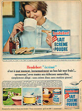 PUBLICITE ADVERTISING 114  1964  HEUDEBERT  lait écrémé