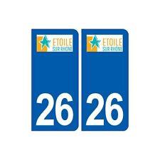26 étoile-sur-Rhône logo autocollant plaque stickers ville droits