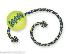 Kong air squeaker dog toy tennis ball rope interactive fetch toy puppy