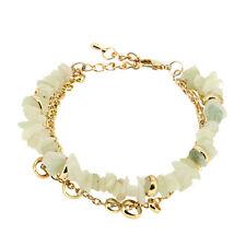 White Quartz Crystal Gold Plated Chain Energy Bracelet
