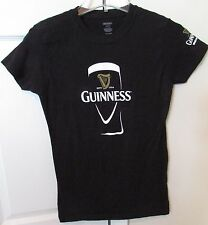 Guinness Draught Beer Made of More Ladies T-Shirt Black Large Fits Like Med EUC
