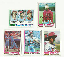 VINTAGE 1982 TOPPS BASEBALL CARDS – SAINT LOUIS CARDINALS - MLB