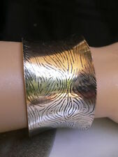 New Women Silver Bracelet Fashion Trendy Metal Small Cuff Animal Print One Size