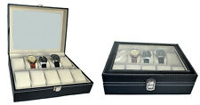 1x Uhrenkasten für 10 Uhren Schmuckkasten Uhrenbox Uhrenkoffer Uhrenaufbewahrung