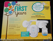 The First Years Quiet Expressions Plus Rechargeable Double Breast Pump new