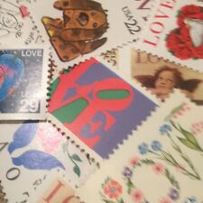25 MNH Vintage LOVE stamps  For Holiday, Wedding And Valentine Mail