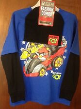 BOYS KIDS-SIZE XS (4-5) ANGRY BIRD GO! T-SHIRT & BEANIE KNIT HAT COMBO