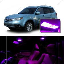 For Subaru Forester 1998-2014 Pink LED Interior Kit + Pink License Light LED