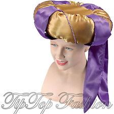 Nuevo sultán Genio Aladdin Púrpura/Oro Hombres árabe Fancy Dress Costume Accesorio