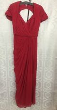 Elie Saab Gown Dark Rose Silk Chiffon Size 42 Belt