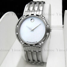 Men's Movado ESPERANZA Diamond White MOP Pearl Dial Stainless Steel Swiss Watch