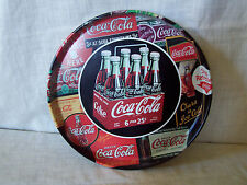 Vintage Coca Cola Metal Round Bar Tray 1950s 6 Pack Carton Issued 1998
