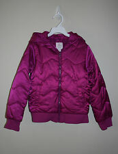 NEW The Children's Place TCP Girls Purple Plum Winter Hooded Puffer Jacket M 7/8