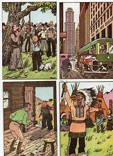 Lot des 4 carte postale Tintin pour les HORS TEXTE de Tintin en Amérique