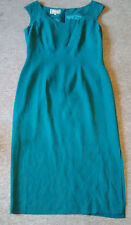 Monsoon 100% Silk Sleeveless Green Party Evening Dress UK Size 14 Excellent Cond