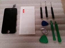 Iphone 5s Black LCD Digitizer Screen Assembly Digi Tool Kit & Tempered Glass