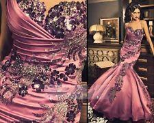 2017 Crystal Mermaid Wedding Dress Rhinestone Bridal Prom ball Gowns Custom