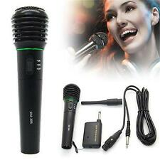 New 2in1 Professional Wired & Wireless Handheld Microphone Mic Receiver System