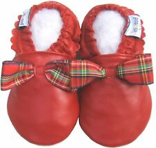 Littleoneshoes Soft Sole Leather Baby PartyRed Shoe 12-18M