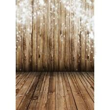 3X5FT LB Wood Wall Floor Vinyl Photography Backdrop Photo Background Studio Prop