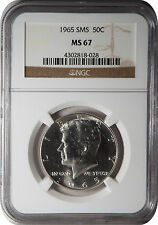 1965 SMS 50 cent Kennedy Half Dollar MS 67 NGC