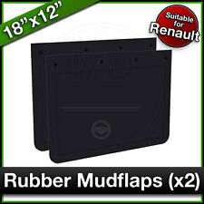 """RENAULT 18"""" x 12"""" (460 x 305mm) Truck Lorry RUBBER MUDFLAPS Mud Flap Guard PAIR"""