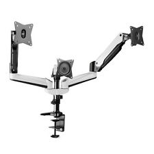 Triple Monitor Mount Desk Stand Adjustable Gas Spring Arm Tilt Swivel Rotate