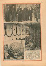 Cardinal Verdier Vatican  Rome/croiseur lourd Algérie Marine 1932 ILLUSTRATION