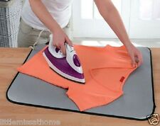 TABLE TOP IRONING BLANKET ( METALLISED PAD * HOLIDAYS TRAVEL PORTABLE FOLDABLE )