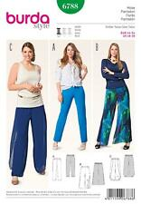 BURDA SEWING PATTERN LADIES SLENDER BASIC PULL ON PANTS  SIZE 18 - 28  6788