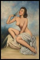 """36""""x24"""" Oil Painting on Canvas, Female Nude, Hand Painted"""