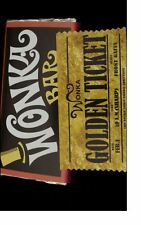 A5 Wonka bar/ ticket (IMAGE) ON EDIBLE ICING SHEET CAKE TOPPER