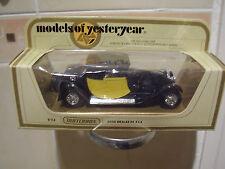 MODELS OF YESTERYEAR--Y-24  1928 BUGATTI T44 - Black-Yellow  1.35