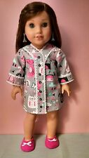 "Paris Dreams ~ Quality Pajamas & Slippers for 18"" American Girl Dolls ~ New"