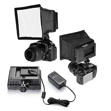Neewer Video Light Kit(CN-AC2 AC Adapter +Diffuser+CN-160 LED Light+Softbox)