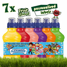 7 x Personalised Paw Patrol Fruit Shoot Labels Bottle Stickers Birthday Party